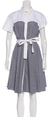Louis Vuitton Gingham Midi Dress w/ Tags