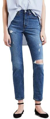 Levi's Wedgie Icon Fit Ripped High Waist Ankle Jeans