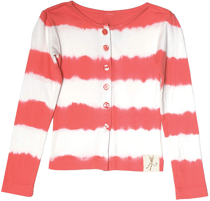 Red Tie-Dye Stripe Cardigan - Newborn, Infant, Toddler & Girls