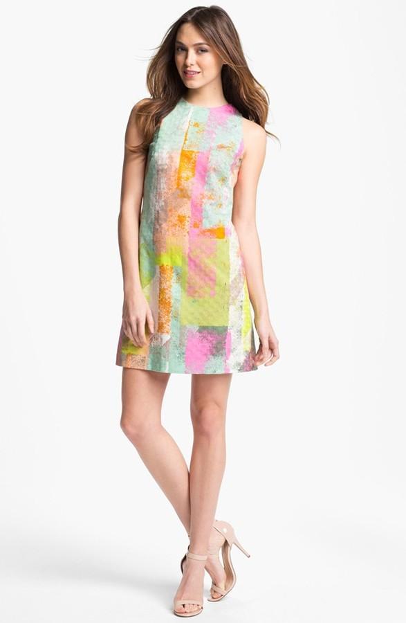Maggy London Print Shift Dress