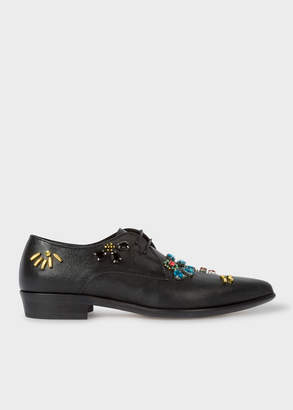Paul Smith Women's Black Gem Embroidered 'Jesse' Shoes