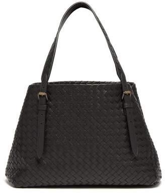 Bottega Veneta Cesta Intrecciato Small Leather Tote - Womens - Black
