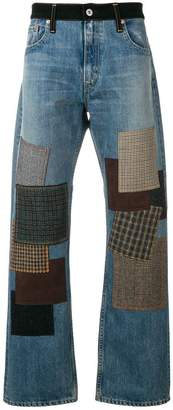 Junya Watanabe patchwork straight-leg jeans