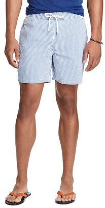 Polo Ralph Lauren Seersucker Swim Trunks $85 thestylecure.com