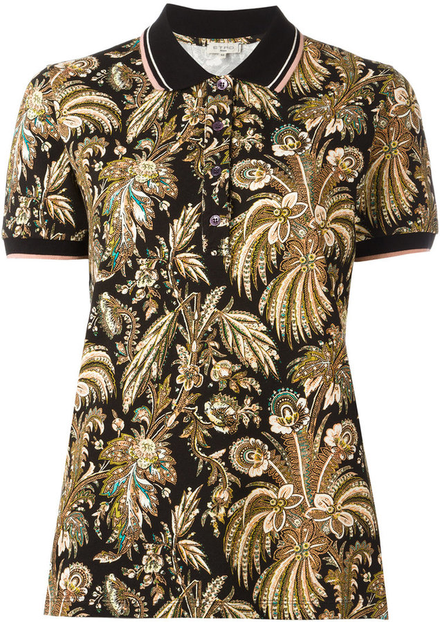 EtroEtro paisley print polo shirt