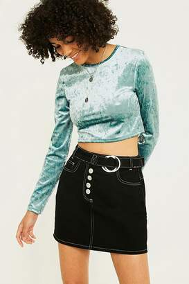 Urban Renewal Vintage Remnants Long-Sleeve Mint Velvet Top