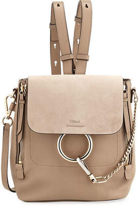 Chloé Faye Small Leather/Suede Backpack