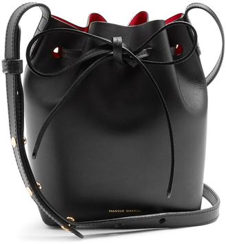 MANSUR GAVRIEL Red-lined Mini Mini leather bucket bag $395 thestylecure.com