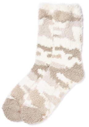 PJ Salvage Camo Fuzzy Socks