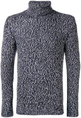 Cruciani fishtail knit turtleneck jumper