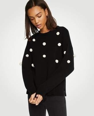 Ann Taylor Petite Pom Pom Sweater