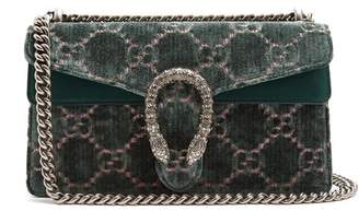 Gucci Dionysus Gg Velvet Shoulder Bag - Womens - Light Green