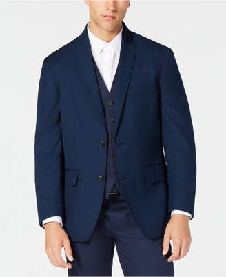 INC International Concepts I.n.c Men Classic-Fit Navy Twill Suit Jacket
