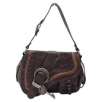 Christian Dior Gaucho leather crossbody bag