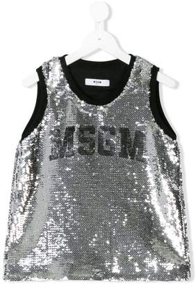 MSGM sequin logo top