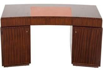 Mahogany Curved Pedestal Desk