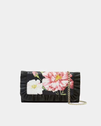 Ted Baker NETAR Iguazu leather ruffle cross body purse