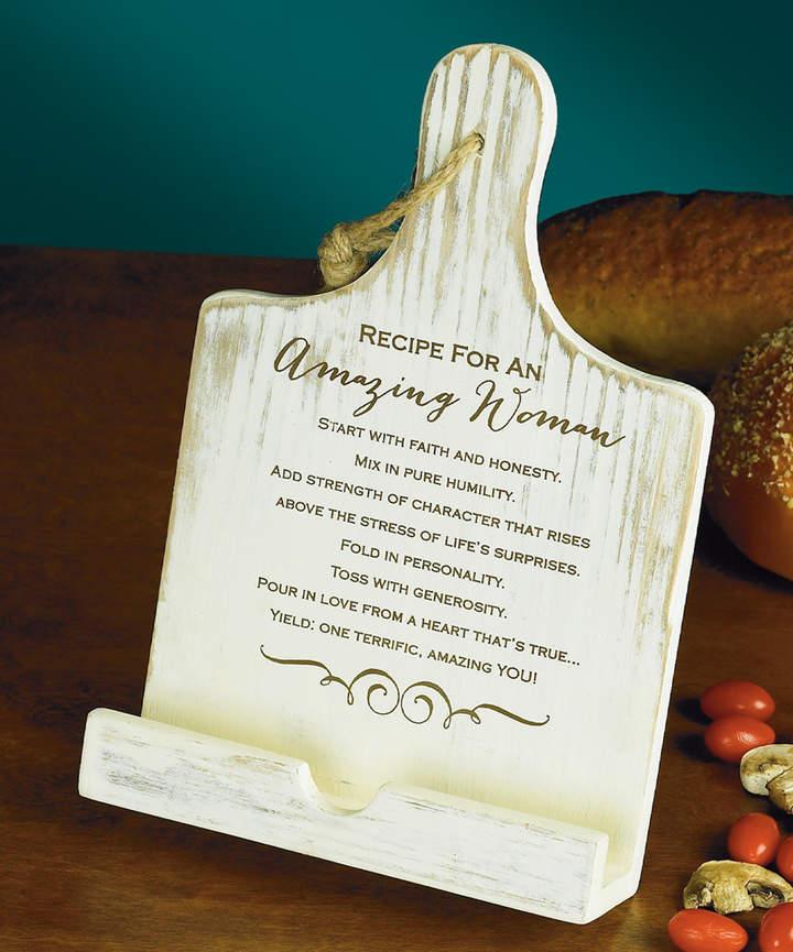 'Amazing Woman' Cookbook Holder