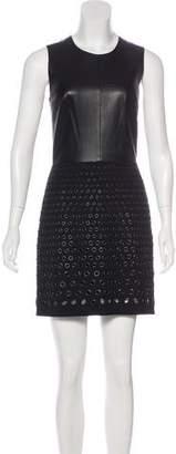 Robert Rodriguez Leather Paneled Dress