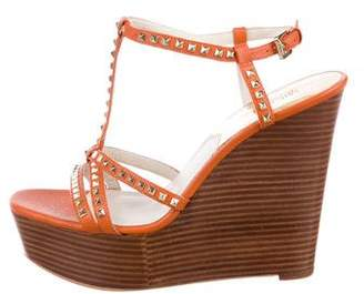 MICHAEL Michael Kors Leather Wedge Sandals