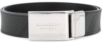 Burberry designer checked style belt