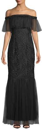 Zac Posen Women's Lace Off-The-Shoulder Gown