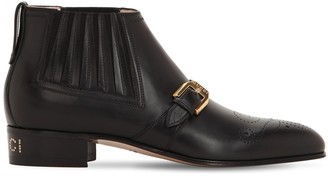 Gucci 30MM WORSH LEATHER ANKLE BOOTS