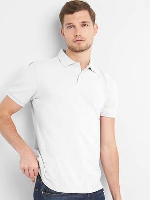 Gap Short Sleeve Pique Polo Shirt in Stretch