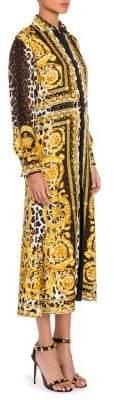 Versace Silk Twill Belted Dress