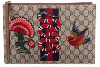 Gucci GG Supreme Embroidered Pouch