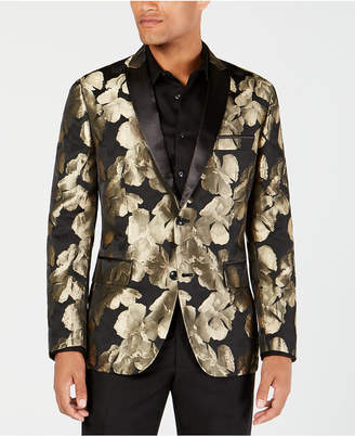 INC International Concepts I.n.c. Men's Slim-Fit Gold Floral Blazer