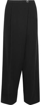 McQ Alexander McQueen - Cropped Crepe Wide-leg Pants - Black $415 thestylecure.com