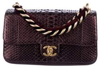 Chanel 2017 Python Square Lined Flap Bag Black 2017 Python Square Lined Flap Bag