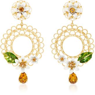 Dolce & Gabbana Daisy Clip Earrings $745 thestylecure.com