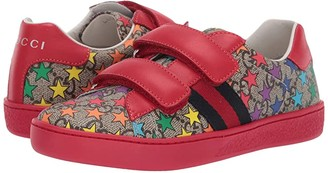 Gucci Kids GG Supreme Double Strap Sneaker (Little Kid)