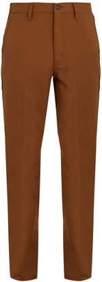Prada Wide-leg twill trousers