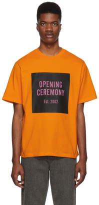 Opening Ceremony Orange Unisex Box Logo T-Shirt