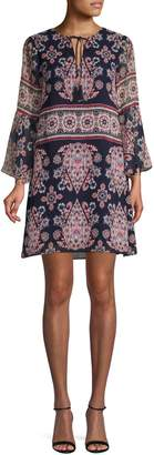Vince Camuto Bell Sleeve Printed Dress