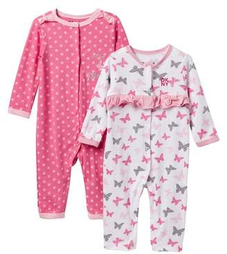 DKNY Love NYC Coveralls - Set of 2 (Baby Girls 0-9M)