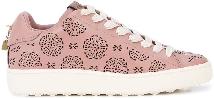 Cheap Sale Latest Collections Clearance Exclusive C101 cut-out sneakers - Pink & Purple Coach New Release Visit Cheap 2018 New NECHxbP