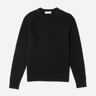 The Ribbed Wool-Cashmere Crew $98 thestylecure.com