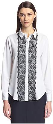 Society New York Women's Lace Trim Shirt