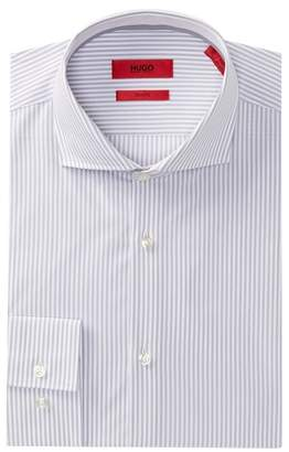 BOSS Jery Striped Slim Fit Dress Shirt