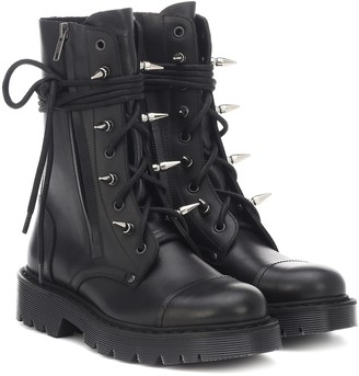 Vetements Studded leather ankle boots