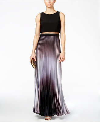 Betsy & Adam Pleated Ombré Illusion Gown $229 thestylecure.com