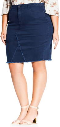 City Chic Untaimed Denim Skirt