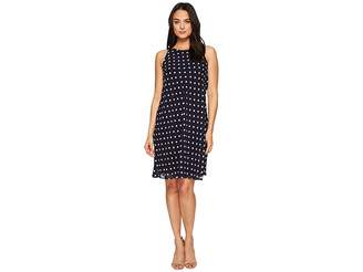 Lauren Ralph Lauren Geminah Classy Dot Georgette Dress Women's Dress