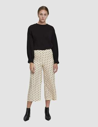 Farrow Dale Polka Dot Culotte Pants in Light Taupe