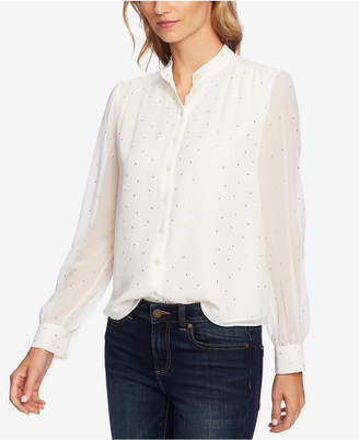 CeCe Printed Button-Front Shirt