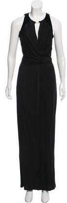 Halston Embellished Sleeveless Dress